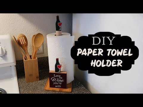 DOLLAR TREE | DIY KITCHEN PAPER TOWEL HOLDER