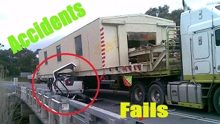Heavy equipment accidents caught on tape . trucks disasters - trucks fails , skills #36