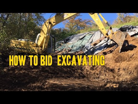 How to Bid  Excavating and Grading
