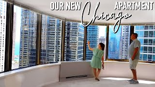 OUR NEW CHICAGO APARTMENT! (SNEAK PEEK)   vlog