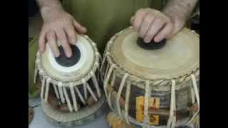 White India- Tabla lesson 4 - Qaida in Dadra tal - 6 beats (& for Vilambit teental)