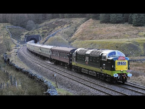 D9009 Alycidon leaving Blea Moor Tunnel with DPS+Pathfinder Tours Winter Settler railtour on 28th De