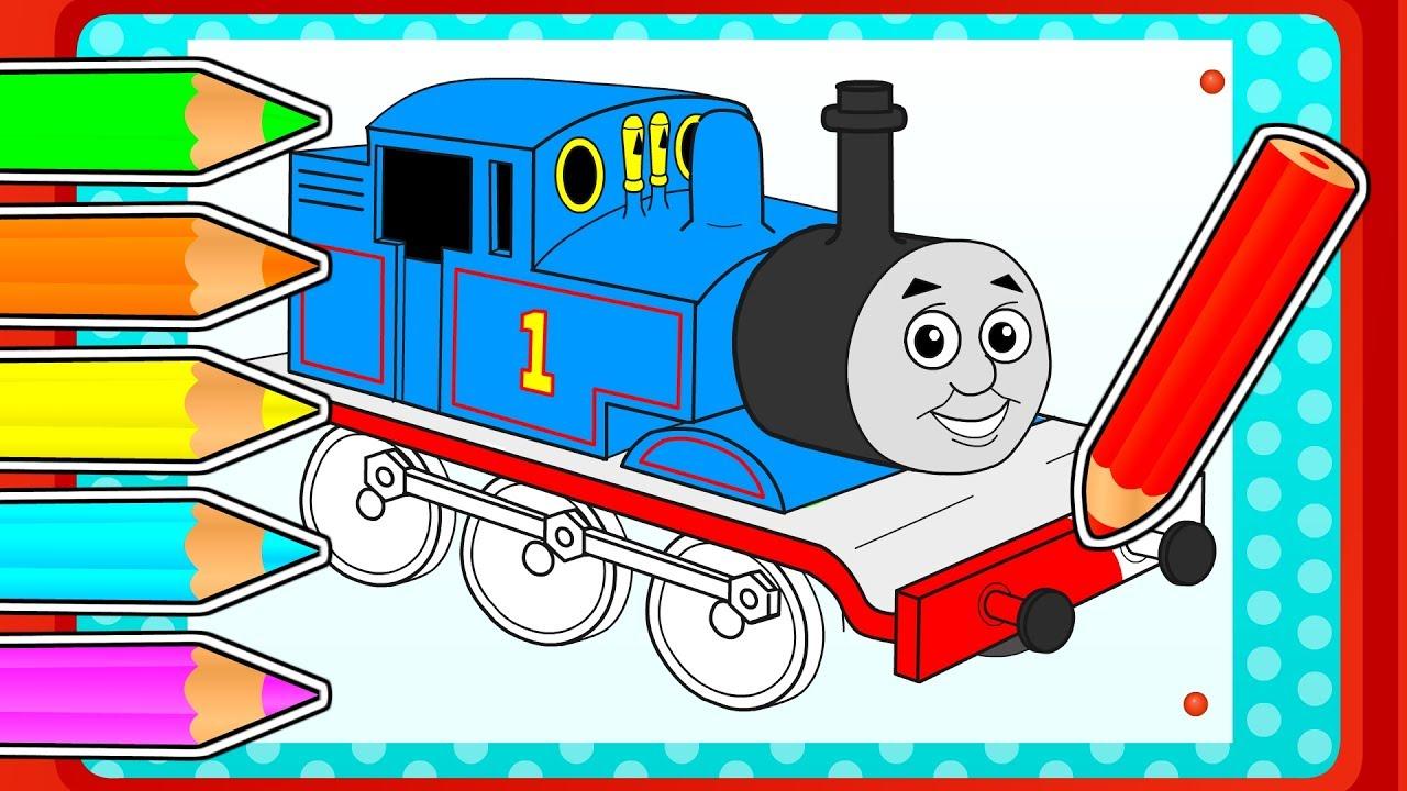 🎨 Cómo dibujar y colorear a THOMAS y sus amigos | Juegos divertidos ...