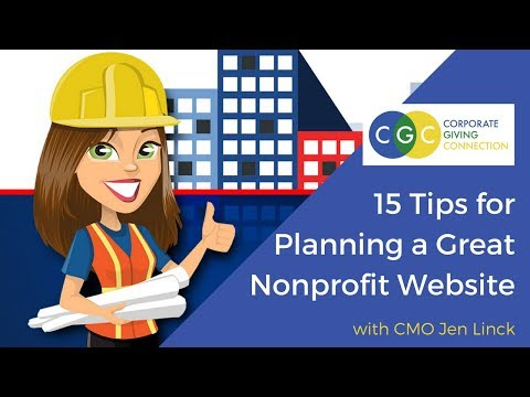 15 Tips For Planning A GREAT Nonprofit Website