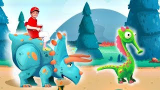 Игра про Динозавров для Детей Защищаем Яйцо от Траглодитов #22 Мультик про Динозавров Lion boy