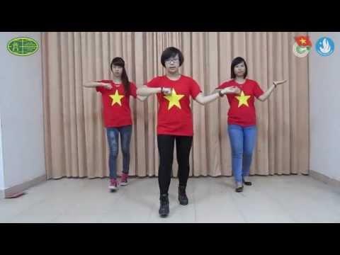 Hướng dẫn nhảy chi tiết Flashmob Việt Nam ơi - Nhảy dân vũ HUBT
