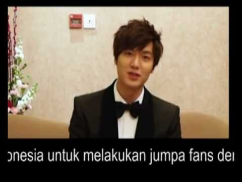 LEE MIN HO GREETING TO INDONESIA