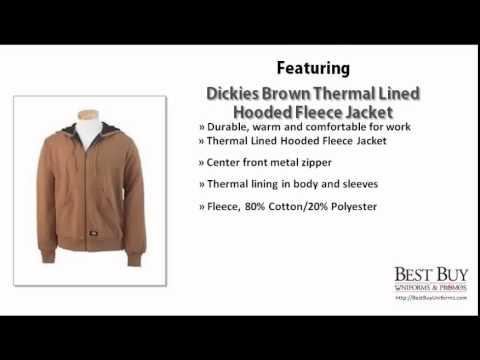 Dickies Brown Thermal Lined Hooded Fleece Jacket