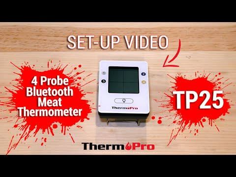 ThermoPro TP25 4 Probe Digital Bluetooth Meat Thermometer Setup Video