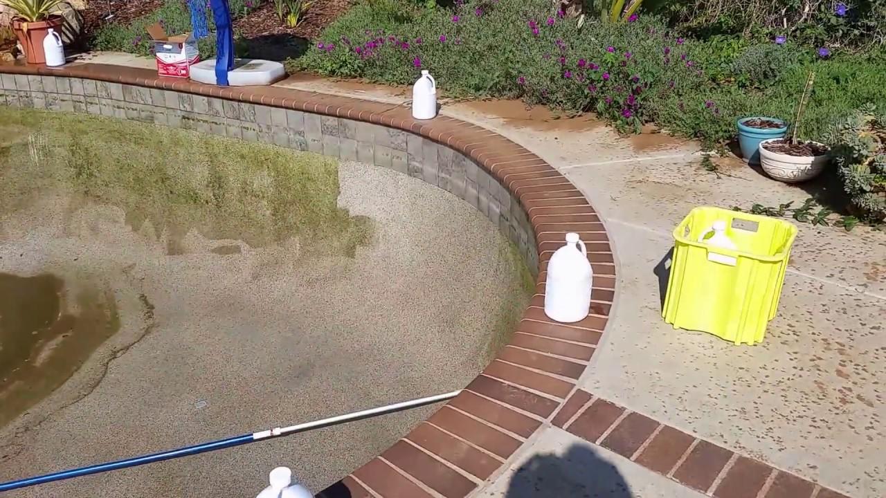 how to clean a swamp pool 4 pressure wash youtube