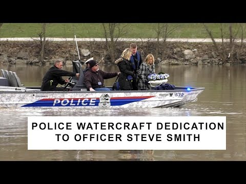 Columbus Police Dedicate a New Marine Park Watercraft to Fallen Officer