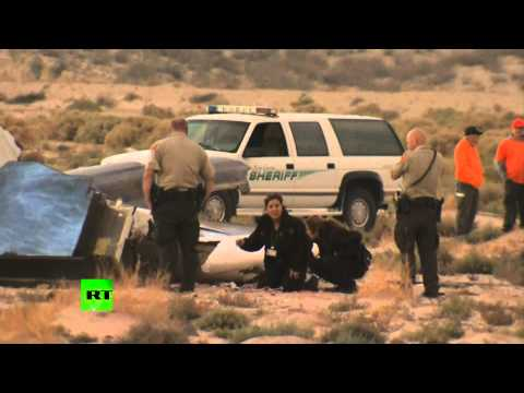 RAW: Virgin Galactic SpaceShipTwo aircraft crash site in Mojave desert