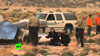 RAW: Virgin Galactic SpaceShipTwo aircraft crash site in Mojave desert