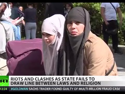 Image result for Burqa Bump: Violence hits France as govt fails to draw line between laws and religion