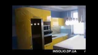 Бесшовная столешница на остров - желтая кухня в современном стиле(, 2015-02-26T11:16:22.000Z)