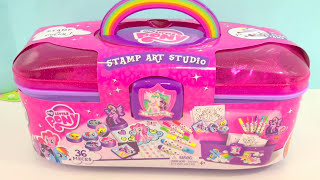 KIDS ART SET | My Little Pony STAMP ART STUDIO Creative Activity For Kids | itsplaytime612