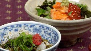 Ochazuke Recipe (Salmon Ikura Chazuke and Umeboshi Shirasu Takana Chazuke) | Cooking with Dog