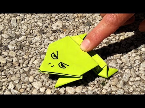 How To Make a Paper Jumping Frog?