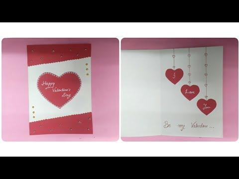 Beautiful Handmade Valentine's Day Card Idea || DIY Valentine's Day Card making