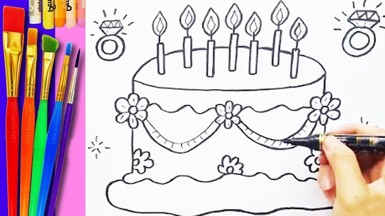 Como Dibujar Y Colorear Un Pastel Muñecas De Papel Paperdolls