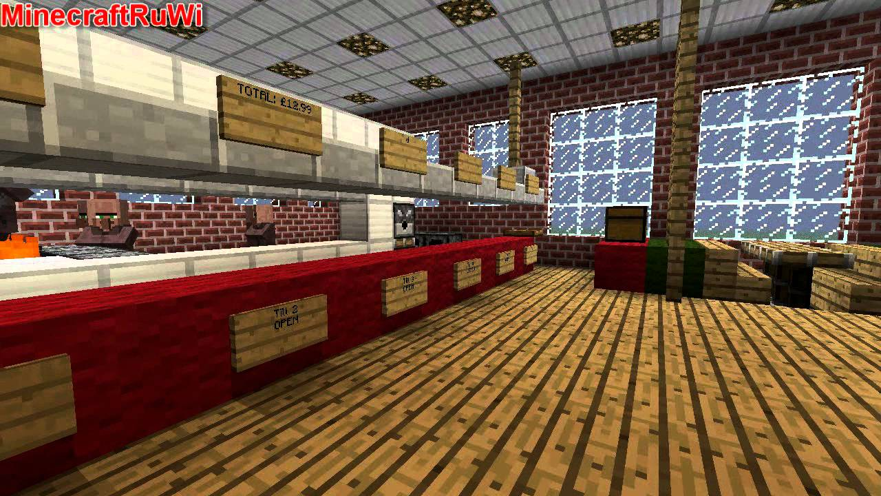 Minecraft McDonald's Modern Style (McRuWi) NEW DOWNLOAD LINK - YouTube