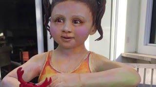 Making a Ceramic Sculpture - Crabby Girl - Progress Video by Artsy Soul, Edrian Thomidis