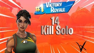 14 Kill Solo win with Jungle scout skin (Fortnite Battle Royale)