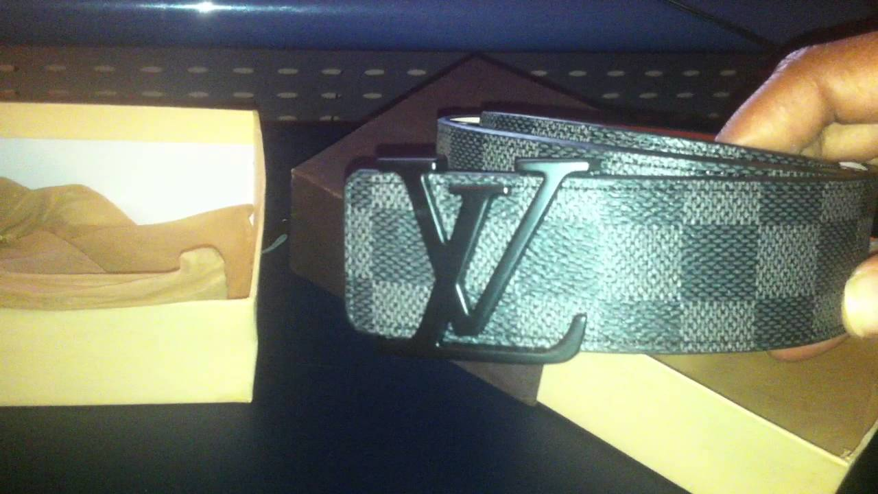 3d1fc418c5ab  16 Louis Vuitton LV Damier Replica Fake Belt (iOffer) - YouTube