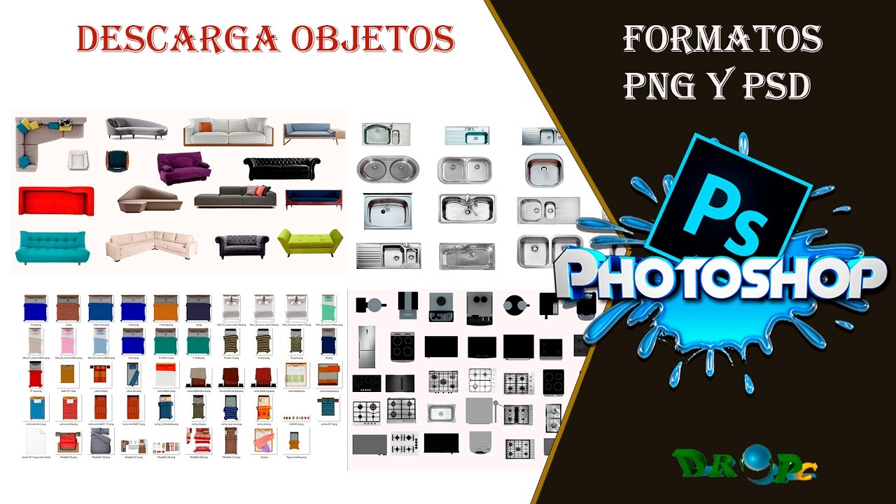 Descarga pack de recursos para photoshop arboles for Muebles 3d gratis
