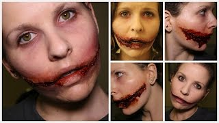 7 Different ways to do a Chelsea Grin | Chelsea Smile SFX Makeup Tutorial