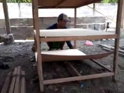 Cara pembuatan kandang puyuh starter - YouTube