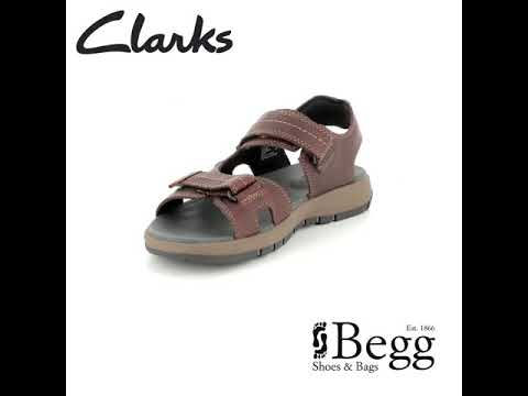 873f8d91765 Clarks Brixby Shore G Fit Dark Brown sandals - YouTube