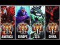 THE BEST PLAYERS IN THE WORLD - TOP 1 OF EVERY REGION (CORE-MMR) - Dota 2