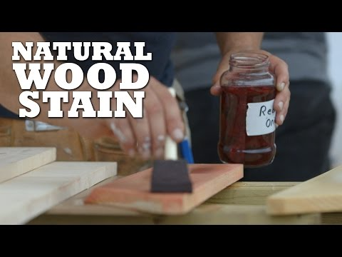 DIY Natural Wood Stains