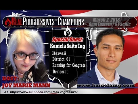 Joy Marie Mann - Savage Joy Live with Kaniela Ing; Congressional candidate for Hawaii, CD01