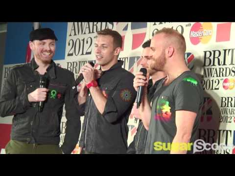 Coldplay in the press room at BRIT Awards 2012