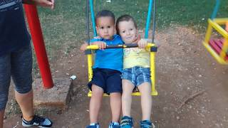 CUTE BABIES IN THE PARK AT SWING /FUNNY VIDEO FOR KIDS