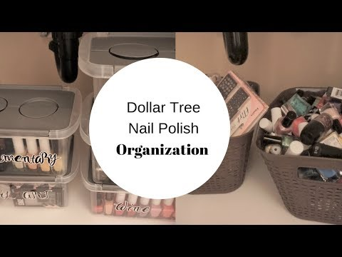 Dollar Tree organization| Let's organize My nail polish