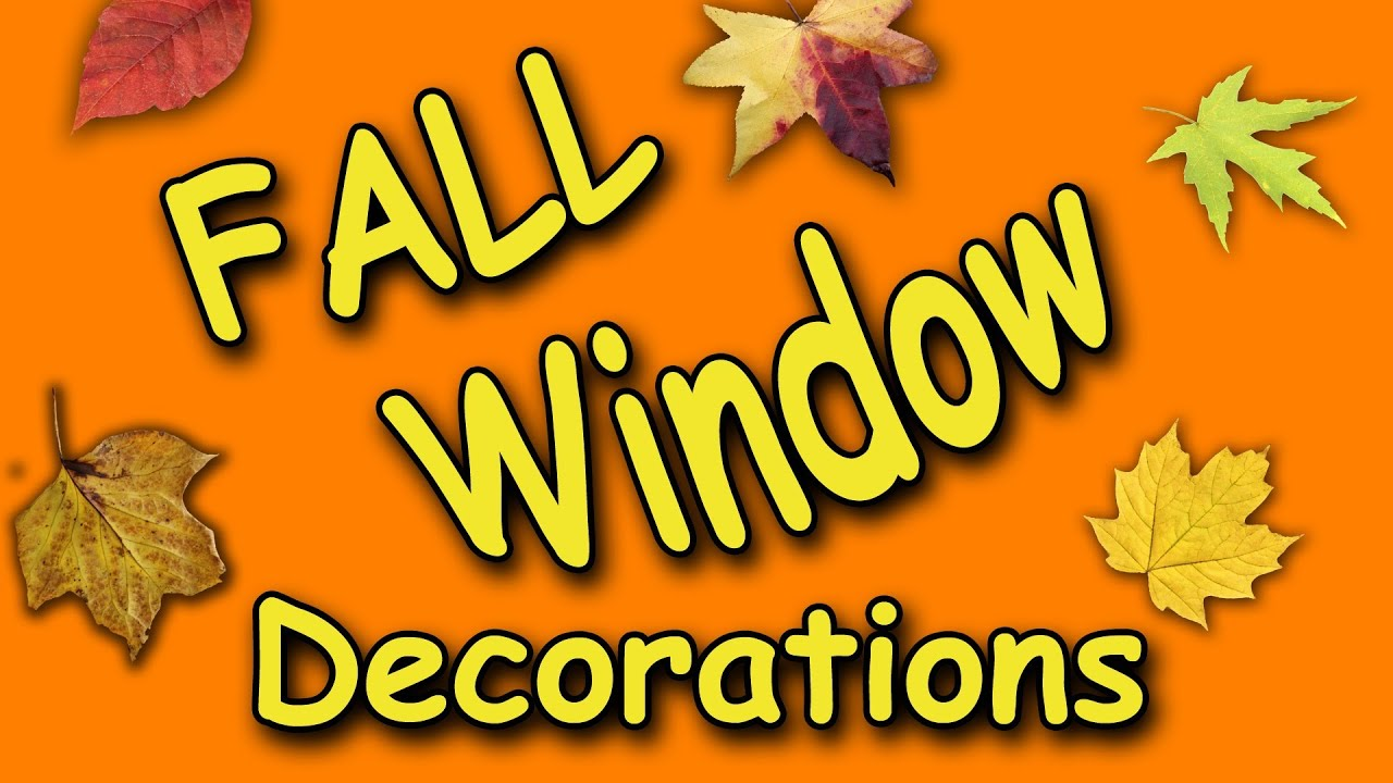 Fall Window Decorations Youtube