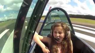 Flight in a Yak-52 over The Hunter Valley NSW Australia. Pilot Jami...