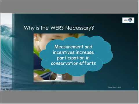 Introduction to the Water Efficiency Rating Score (WERS)