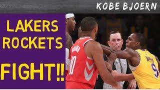 Lakers Fight gegen Houston!! CP3 vs Rondo!! - KobeBjoern uncut