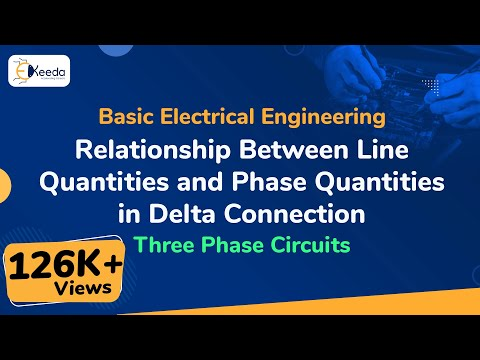 Relationship Between Line Quantities and Phase Quantities  in Delta Connection