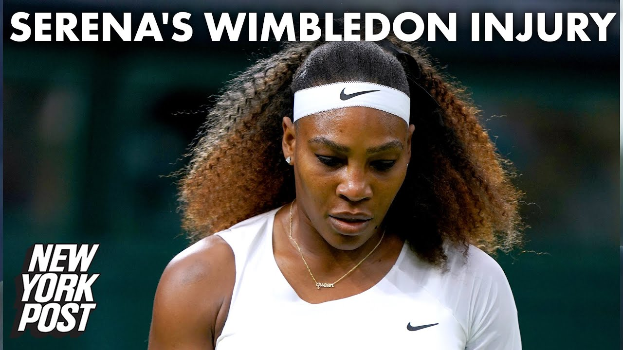 Serena Williams exits Wimbledon after injury in her first-round match