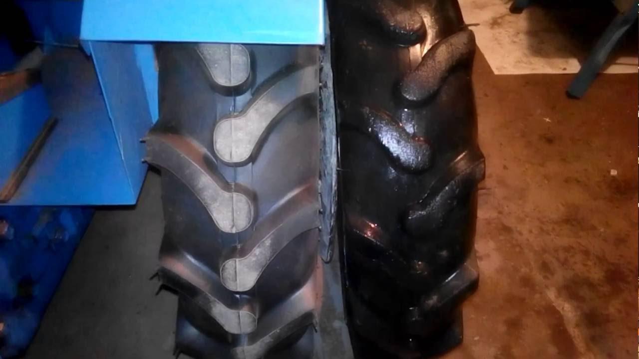Міні трактор Козачок - заміна задньої гуми на більшу.