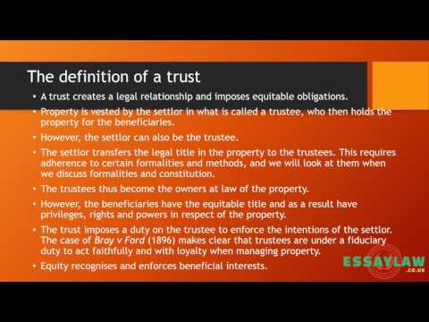 Introduction to trust law