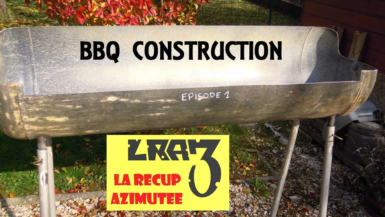 Fabrication barbecue bbq construction part 1 funnycat tv for Construction d un barbecue