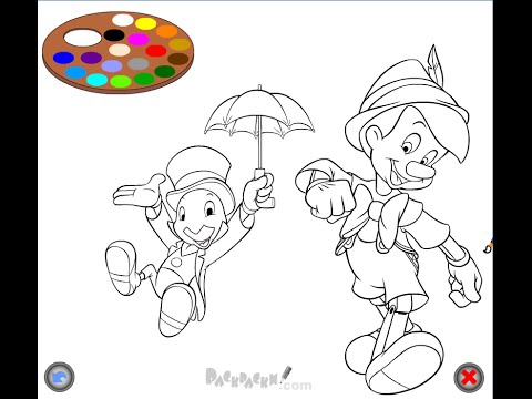 pinocchio coloring pages for kids youtube