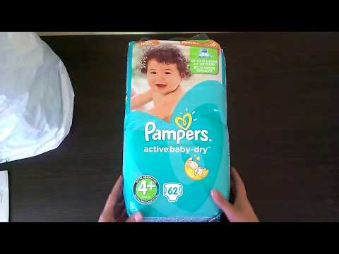 Підгузки Pampers Active Baby-Dry Розмір 4+ (Maxi+) 9-16 кг, 45шт (4015400735724)