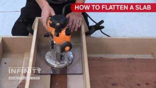 How to Flatten a Live-Edge Slab with a Router